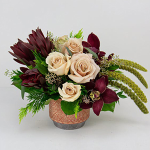 BURGUNDY & BEIGE, Fall Centerpiece